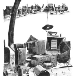 Jessie Brennan Impossible Buildings 2009 pencil on paper 43 x 34 cm