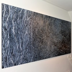Bloom, ink on canvas, 140x315cm