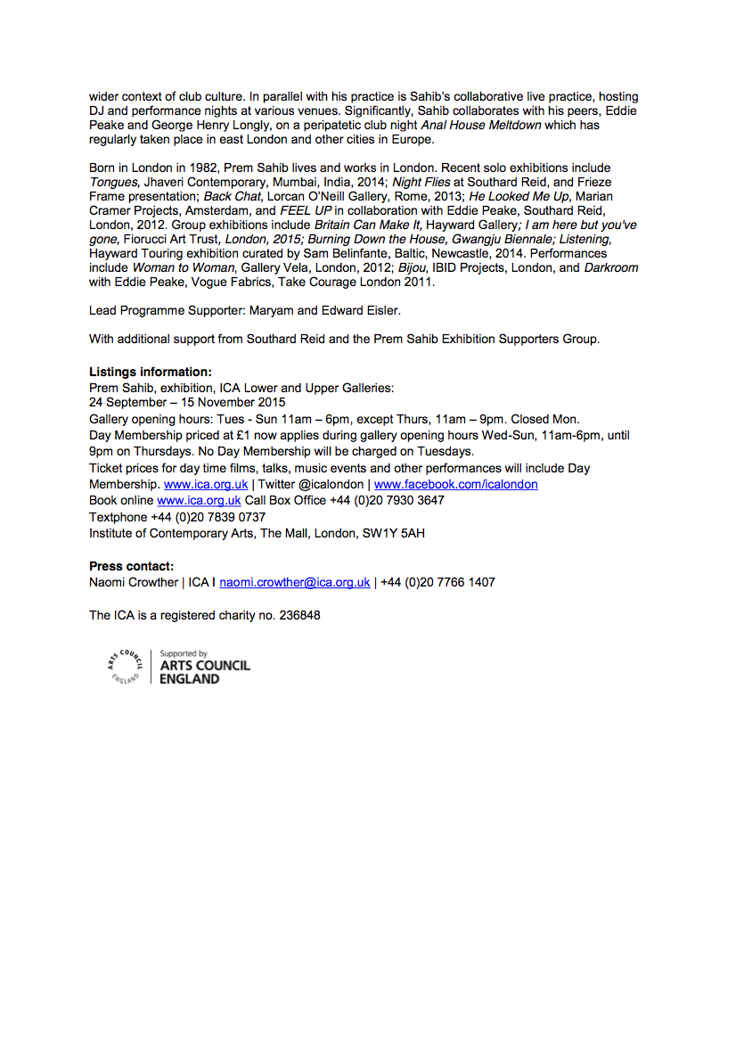 Prem Sahib ICA press release kopie 2